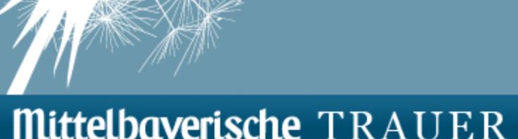 Trauerportal der Mittelbayerischen Zeitung