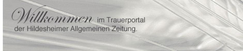 Hildesheimer Allgemeine Zeitung has a new sad ads family portal
